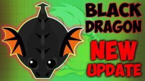 Черный дракон в Mope io